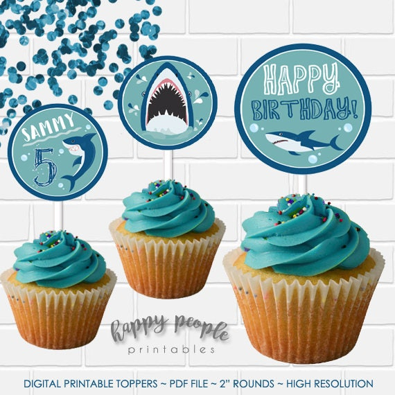 recipe: shark cupcake topper [18]