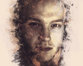 Ink Smudge Portrait Print