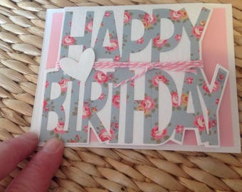 Handmade card using Cath Kidston paper