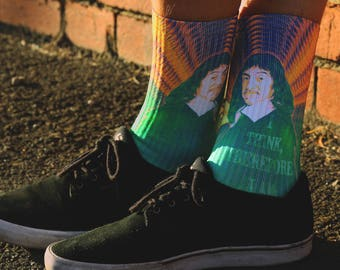 Rene Descartes - I think therefore I am Socks