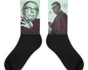 Jean-Paul Sartre Socks