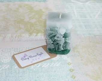 Emerald Green Faded Fairy Candle