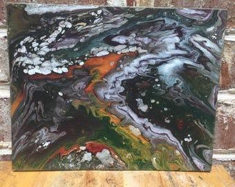 Multi-color Pour Painting