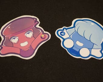 Ruby and Sapphire stickers