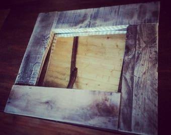 Rustic Handmade Mirror - Pallet Furniture