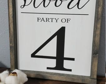 Party of Family Sign