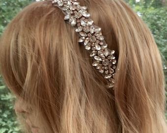 Wedding Crown Halo, Wedding Bridal Wreath, Wedding Bridal Halo, Wedding Bridal Crown, Bridal Party Crown, Bridal Crystal Halo