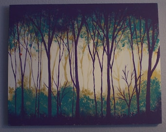 Abstract Woods Painting