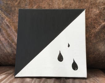 Black and white drops