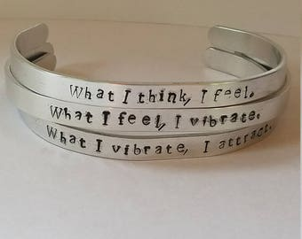 Think Feel Vibrate Attract Trio Bracelet