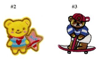 bear embroidery  patch , bear patch VNEM054