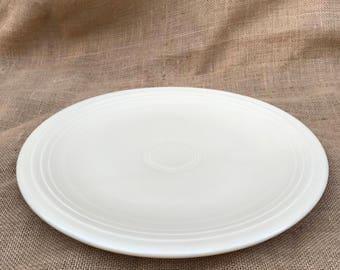 """Vintage 13"""" Ivory Fiestaware Chop Plate"""