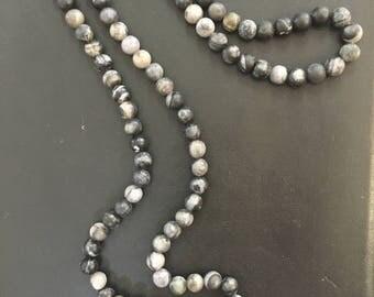 Multi Black & Grey Druzy Necklace