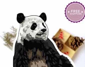 Panda Stickers|Animal lover gift,Animal Stickers,Stickers set,Panda Bear,Panda art,Panda birthday