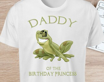 Princess Tiana Iron On - DADDY of the Birthday Girl - INSTANT DOWNLOAD