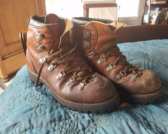 Vintage Red Wing Hiking Boots with new Vibram soles