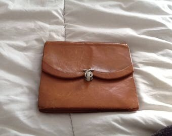 Carel Ou Carvil Paris vintage tan handbag