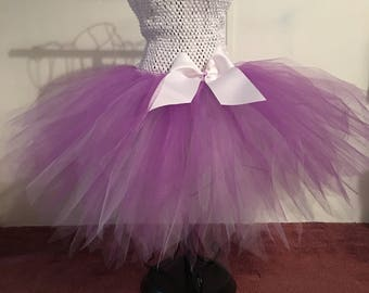 Tutu dress -Lavender and white