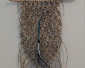 Hemp rope macrame piece