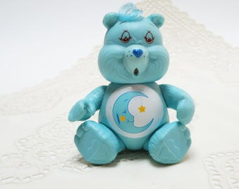 Care bear - 1983 - light blue care bear- care bear  moon