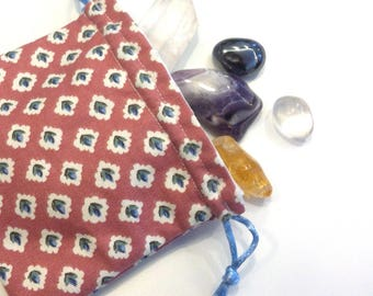 Cotton-lined Crystal Pouch 1 (Drawstring, 11.5 x 13cm)
