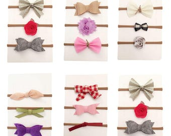15Pcs Baby Girls Toddler Kids Flower Bow Headband Hair Band Accessories Headwear