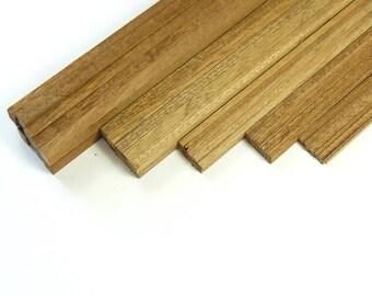 Mahogany Strip Wood Bundles of 10 - Craft and Model Making Supplies