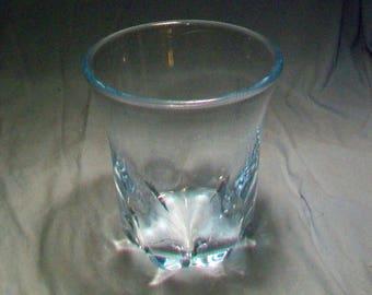 Orrefors Swedish Blue Crystal Artist Signed Vase