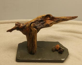 Driftwood bird, driftwood sculpture, driftwood decor