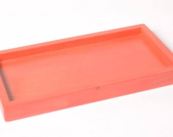 Fire red tray for 5 soap dish
