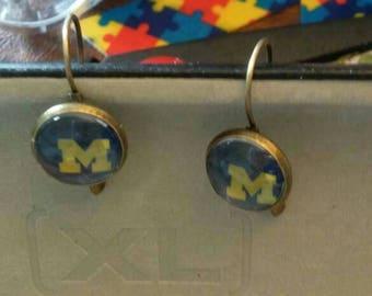 Michigan U of M earrings