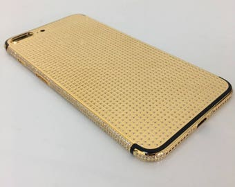 iPhone 7 Plus 24K Gold Color with Zircon Crystals [Full Body]