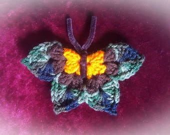 Crochet Butterfly Magnet
