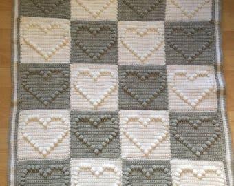 Crocht Baby Heart Blanket