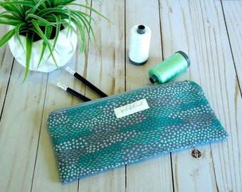 Mint Pencil bag/ Pencil pouch/ back to school/ zip pouch
