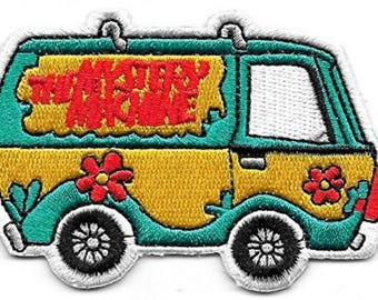 "FREE SHIPPING-Domestic-InspireMeByAudrey Scooby Doo Mystery Machine Embroidered Sew/Iron-on Patch/Appliques 3.25"" x 2.25"""