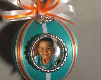 Miami Dolphins #1 Dad Christmas Ornament