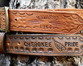 Native American Custom Leather Belts