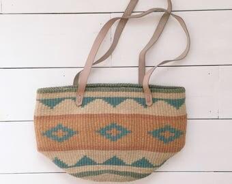 Aztec Print Woven Bag