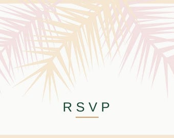 Wedding RSVP printable download (double sided)