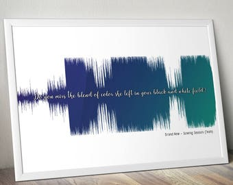 Brand New Sowing Season (Yeah) Soundwave Poster Gift Audiophile