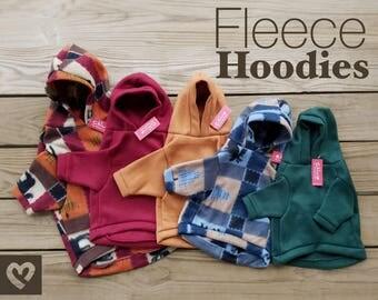 Fleece hoodies for pets