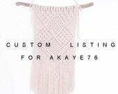 Custom Order for akaye76