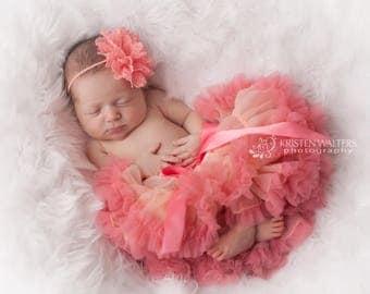 Tutu, Coral Baby Tutu, Newborn Tutu, Baby Tutu, Tutu for Baby, Coral Tutu, Tutu Coral, Cake Smash Outfit, First Birthday Outfit Girl
