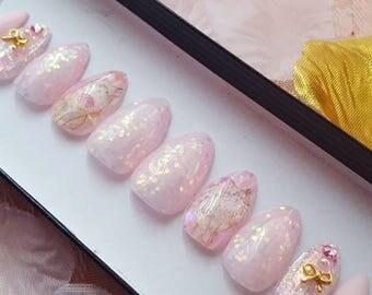 Pink Paws- press on nails, glue on nails, false nails, reusable nails, fake nails