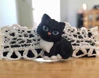 Gorgeous Handmade Kitty Cat Barrette!