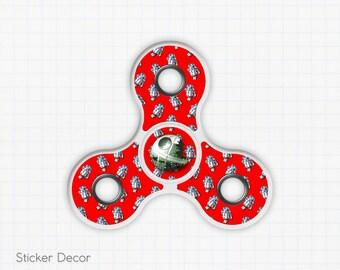 Star Wars, R2D2, Death Star, Fidget Spinner Sticker Decal, Fidget Toy, Hand Spinner, Stress Toy