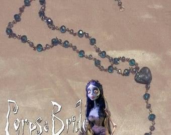 Tim Burton Corpse Bride inspired Rosery necklace