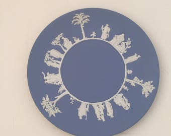 Vintage Wedgwood Jasperware with Grecian characters around rim