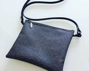 Leather shoulder bag clutch